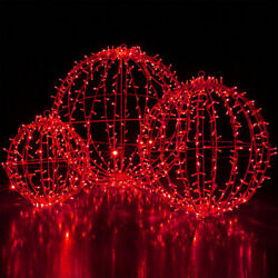 Red LED Commercial Mega Sphere Light Ball Fold Flat