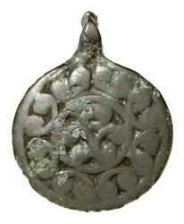 Ancient Very Rare Vikings bronze cast pectoral pendant with Solar sign. IXCAD