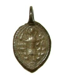 Ancient Very Rare Medieval bronze cast pendant with
