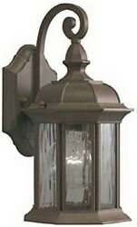 Bellwood Olde Brick And Clear Wave Glass Exterior Wall Light Orig $90