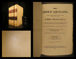 1860 Saint Thomas AQUINAS Summa Theologica Medieval Philosophy Catholic 4v SET $599.00