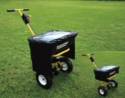 Heavy Duty Steel 85 lb Push Broadcast Seed Fertilizer Spreader w Vinyl Cover $161.99