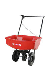 Heavy Duty 65 lbs Residential Seed Fertilizer Broadcast Spreader Red Poly Cart $83.99