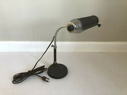 Vintage 1940's Art Deco ChromeMetal Desk or Piano Lamp