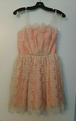 Topshop Lace Pink Cocktail Dress Size 4 lace cocktail prom cute fun pin up $17.18