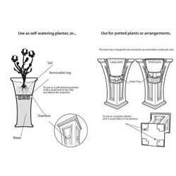 YIMBY Heritage Self Watering Large Garden Patio Planter Pot 2 Pack Open Box $104.99