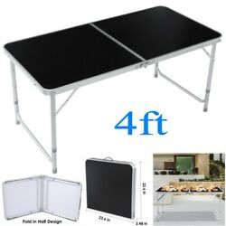 4FT Folding Table Indoor Outdoor BBQ Portable Picnic Party Camp Tables Black US $26.99