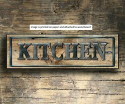 Kitchen Sign Rustic Farmhouse Style Shelf Sitter Rustic Decor 8x3x1 8quot; met $15.99