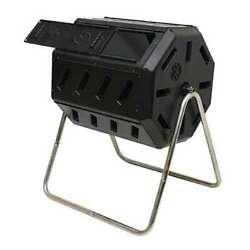 FCMP Outdoor IM4000 37 Gallon Dual Chamber Tumbling Composter Bin Used $72.99