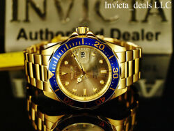 Invicta Men's 40mm Pro Diver SUBMARINER Champagne Dial Gold Tone SS 200m Watch $57.99