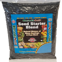 100% Organic Readi Soil 8 Qt Worm Castings Seed Starter FREE SHIPPING $19.99