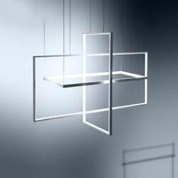 Home Ceiling Chandeliers Modern Lighting Rectangle Shapes Hanging Fixture Decors $323.44