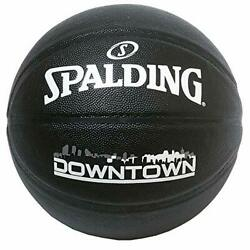 SPALDING Basketball for Kids Size 5 DOWNTOWN BLACK Synthetic Leather 76 587J $35.14