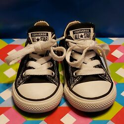 Converse All Star Toddler Boy#x27;s Girl#x27;s Size 5 Black Low Shoes $14.95