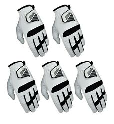 SG Pack of 5 Men All weather golf gloves cabretta leather palm patch and thumb $23.90