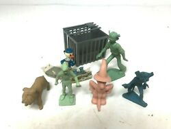 Vintage Marx Plastic Figure Lot - Donald Duck Peter Pan Pet Shop Alien