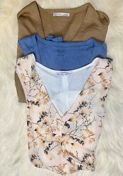 Womens Spring Tops Designer Clothing Lot Size Small Zara Madewell