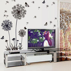 Dandelion Flowers Wall Stickers Home Bedroom Living Room Decoration Stickers $6.06