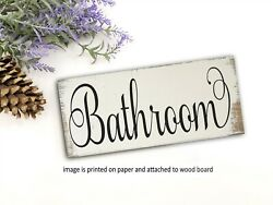 Funny Bathroom Sign Shelf Sitter Farmhouse Handmade Rustic Decor 8x3quot; $14.99