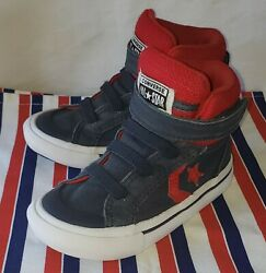 Converse All Star Toddler Boy#x27;s Size 7 Mid Easy On *Red*White*Navy Blue* $11.95