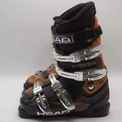 Head Cross Ski Boots 23 Black Orange Mens 5 Womens 6 Eur 36.5 made in Italy $149.99