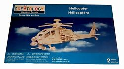 CREATOLOGY Wooden Puzzle Military Helicopter Kit 2 Sheets New Sealed Ages 3 $19.99