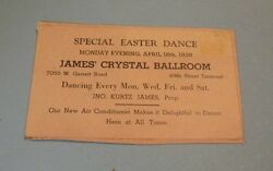 1938 James Crystal Ballroom Easter Dance Flyer West Chester Pennsylvania New A C $9.95