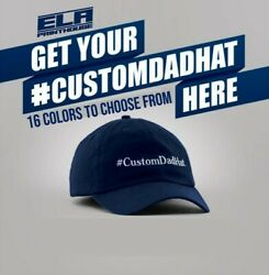 Custom Personalized Embroidered Text Dad Hats Cap Baseball Cap Hat $17.99