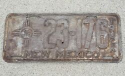 Truck 1936 NEW MEXICO LICENSE PLATE 23 176 NM 36 rustic FOR RESTORATION ANTIQUE $37.99