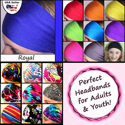 Tennis Headband for Women Youth Sports Workouts Team School Lot Group Royal $5.95