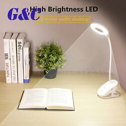 Reading Lamp Clip Light USB LED Bed Lamp Desk Table Lamp With Clip Dimmable $9.90