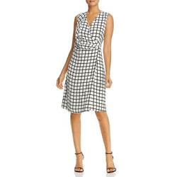 Kenneth Cole New York Womens Grid Print Sleeveless Cocktail Dress BHFO 2846 $14.09