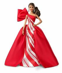 Barbie 2019 Holiday Doll 11.5-Inch Wavy Brunette Wearing Red and White Gown $24.28