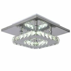 Stainless Crystal Chandelier Lights High Power LED Modern Lamps For Living Rooms $41.99