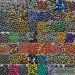 Wholesale Natural Gemstone Round Ball Spacer Loose Beads 4mm 6mm 8mm 10mm 12mm $6.30