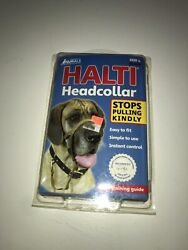 Dog Halti Headcollar & Training Guide Padded Size 4 Black Company of Animals NIP $16.99