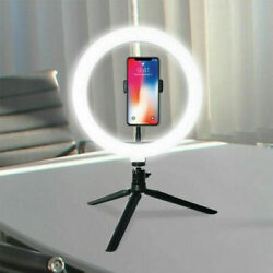 LED Ring Light Lamp Selfie Camera Phone Studio Tripod Stand Photo Video Dimmable $13.59