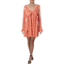 Free People Womens Party Bell Sleeves Boho Mini Dress BHFO 5228 $24.96