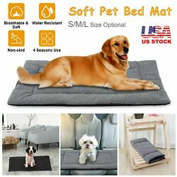 Pet Dog Large Bed Cat Mat Soft Plush Cushion Reversible Water Resistant Washable $17.41