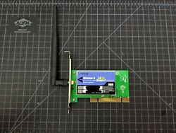 Linksys 2.4GHz Wireless G PCI WiFi Adapter with Speed Booster 802.11g WMP54GS $10.00