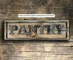 PANTRY sign wood Farmhouse PANTRY sign kitchen rustic home decor farm 8x3x1 8quot; $15.99