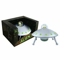 Off the Wall Toys Alien Glow-in-The-Dark UFO Space Ship and Bendable Action Figu $13.95