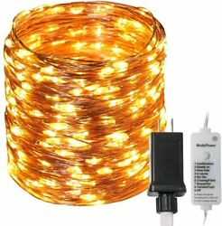 100200300 LED Fairy Lights Starry String Lights Copper wire Light plug in dim $15.99