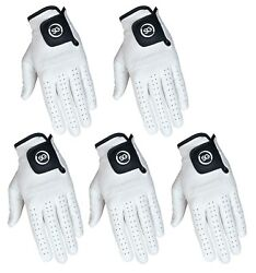 SG 5 Men 100% Cabretta Leather Golf gloves both hand gloves All sizes available $27.99