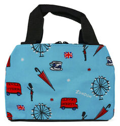 UK London Thermal Insulated Lunch Box Cooler Bag Cute Teens Girls Tote Small $17.99