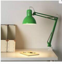IKEA TERTIAL Green  DESK WORK LAMP ARM AND HEAD ARE ADJUSTABLE With Light  Bulb $29.99
