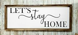 Let#x27;s stay home large decor $50.00