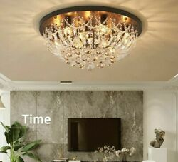 Crystal Light Ceiling LED Home Nordic Decorative Luxury Living Room Cozy Fixture