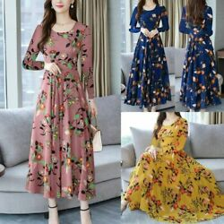 Floral Sundress Summer Ladies Short Long Sleeve Women Party Dresses $13.82