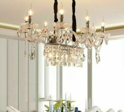 Candle Crystal Chandelier Lights Home Interior Luxury Glass Crystals For Bedroom $503.83